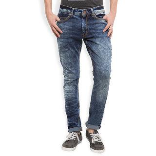 Locomotive Navy Slim Fit Mid Rise Jeans For Men