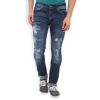 Locomotive Navy Slim Fit Mid Rise Jeans For Men