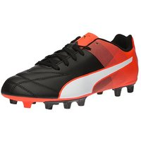 Puma Men's Adreno II FG Black-White-Red Blast Football Shoes