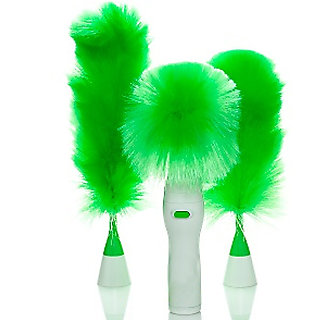 Kawachi Multifunctional electric Dusters Dust Brush Green Feather Dusters Dust Cleaning Brush window cleaning for Blinds