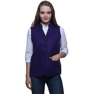 Dhrohar Purple Woolen Waistcoat for Women