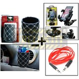 Ac Vent Mobile Holder With Mobile Holder & Aux Cable