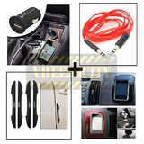 I Pop New Door Guard Black With Usb Charger, Aux Cable & Spider Sticky Pad