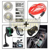 Flasher Light & Mobile Holder & Usb Charger& Aux Cable