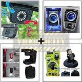 Car Exhaust Fan & Bvezel Perfume & Drink Holder & Bractron Heavy Duty Mobile Holder