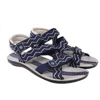 Shrills Men's Grey And Blue Slip On Sandal