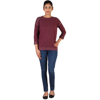 Lee Womens Maroon Sweatshirt