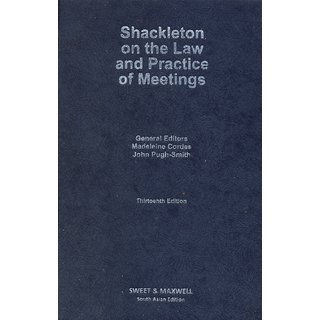 Shackleton On The Law And Practice Of Meetings (English)