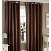 Deal Wala Set Of 2 Attractive Plain Designing Door Curtain-brown