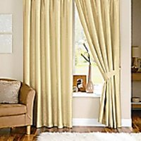 Deal Wala Pack Of 2 Attractive Plain Eyelet Door Curtain-cream