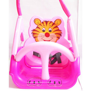 Panda Baby Musical Swing - With Multiple Age Settings  4 Stages  (Pink)