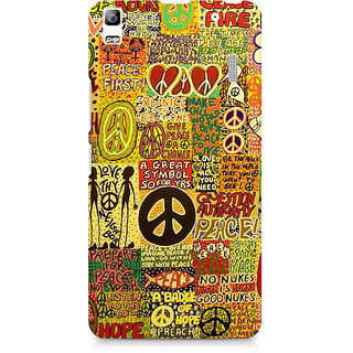 CopyCatz Hippy Peace Premium Printed Case For Lenovo A7000
