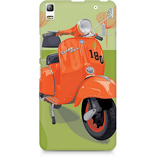 CopyCatz Orange Vespa Premium Printed Case For Lenovo A7000