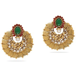 Vastradi Stunning Golden Alloy Drop Earrings Design 1