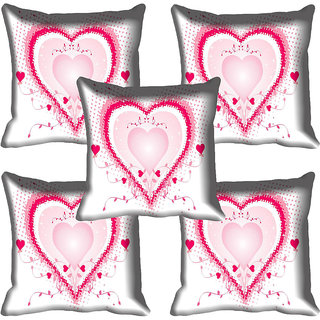 meSleep Heart Digital printed Cushion Cover (20x20)