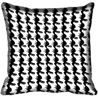 meSleep Abstract Face Digital Printed Cushion Cover 18x18