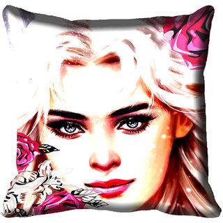 meSleep Beautiful Lady Digital Printed Cushion Cover 20x20