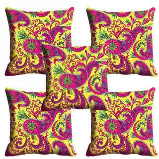 meSleep Multi Color Paisley Cushion Cover (20x20)