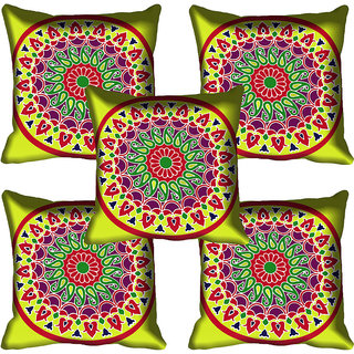 meSleep Beautiful Paisely Design Digital Printed Cushion Cover 12x12