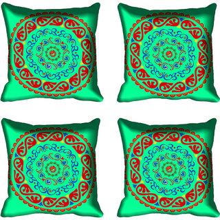 meSleep Beautiful Circle Design Digital Printed Cushion Cover 12x12