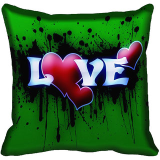meSleep Love Digital printed Cushion Cover (18x18)