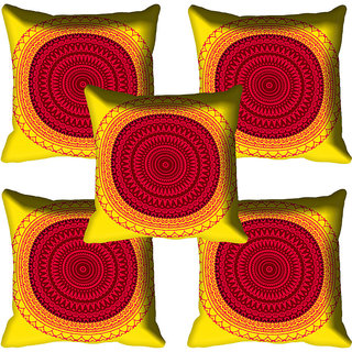 meSleep Red Digital Printed Cushion Cover 18x18