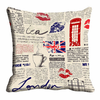 meSleep Beige Quotes Cushion Cover (12x12)