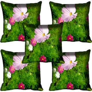 meSleep Floral Digitally Printed Cushion Cover (18x18)