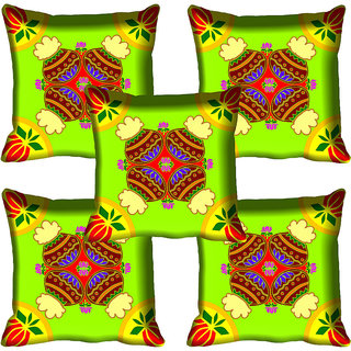 meSleep Ethnic Design Digital Printed Cushion Cover 20x20