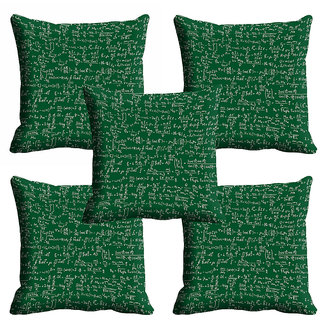meSleep Green Abstract Cushion Cover (18x18)