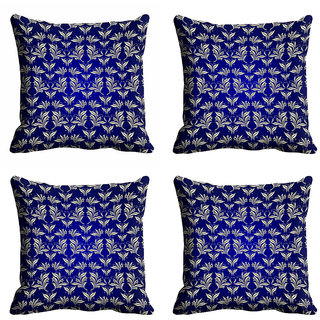 meSleep Blue Abstract Cushion Cover (20x20)