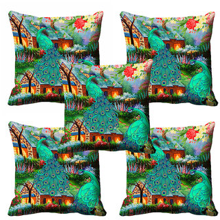 meSleep 3D Beautiful Nature Cushion Cover (12X12)