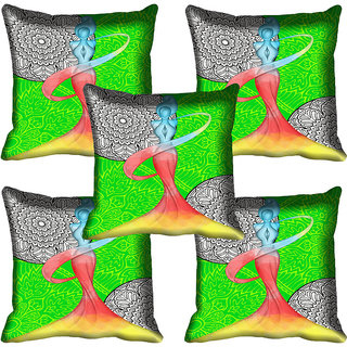 meSleep Abstract Lady Digital Printed Cushion Cover 12x12