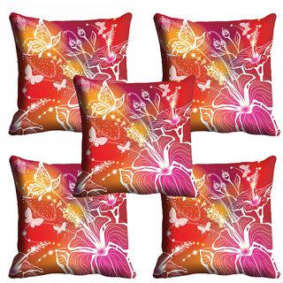 meSleep 3D Butterfly Print Cushion Cover (20x20)