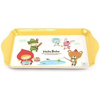 Lock&Lock Hello Bebe Storytelling Educational Design Baby Feeding Rectangular Mini Plate