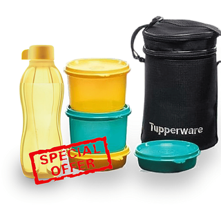 Tupperware Executive Lunch Box With Insulated Bag With 500 Ml Water Bottle