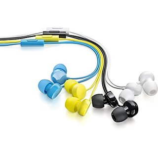 Set of 3 Coloured In the Ear Wired Earphones (Without Mic)