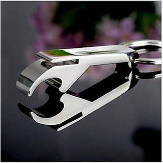 NEW Men's Gift Bottle Opener Keychain Silver Keyring Key Chain