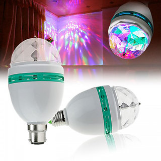 LED Full Colour 360 Rotating Lamp LED Spot Light Lamp For Party Dance Disco Decoration
