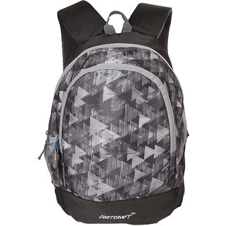 Justcraft Apple Black and Tk Grey Collage Backpack