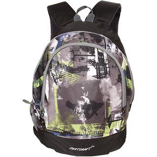 Justcraft Apple Black and Wld Green Collage Backpack