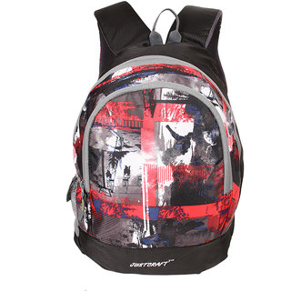 Justcraft Apple Black and Wld Red Collage Backpack
