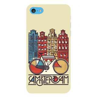Snapdilla Light Background Simple Amsterdam City Cool Clipart 3D Print Cover For Apple IPod Touch 6
