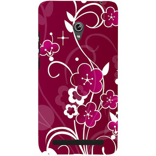 Snapdilla Artistic Simple Beautiful Floral Design Pink Color Awesome Phone Case For Asus Zenfone 6 A600CG