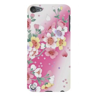 Snapdilla Artistic Floral Pink Background Modern Art Cool Painting Smartphone Case For Apple IPod Touch 5