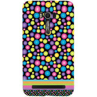 Snapdilla Colourful Bubbles Pattern Lovely Simple Cool Mobile Pouch For Asus Zenfone Go ZC500TG