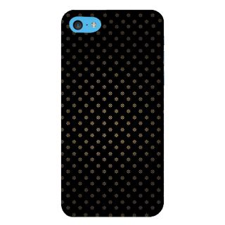 Snapdilla Black Background Artistic Tiny Floral Pattern Unique Phone Case For Apple IPod Touch 6