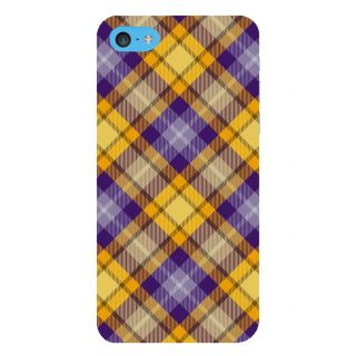 Snapdilla Voilet Colour Cross Checks Pattern Sober Cloth Fabric Smartphone Case For Apple IPod Touch 6