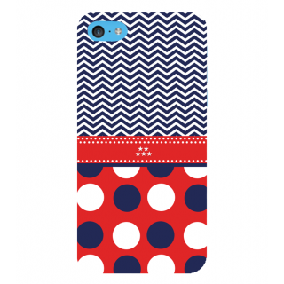 Snapdilla Blue  Red Multi Stripes Pattern Cool Looking Perfect Cute Back Cover For Apple IPod Touch 6