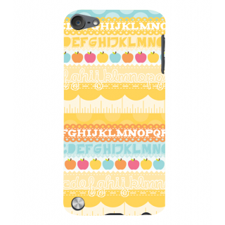 Snapdilla Yellow Background Amazing English Alphabet Letters Childish Good Mobile Pouch For Apple IPod Touch 5